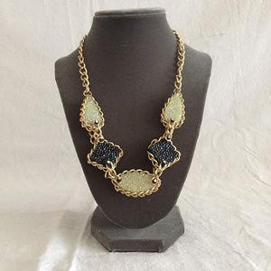 Jewelry - Chunky Gemstone Inspired Statement Necklace